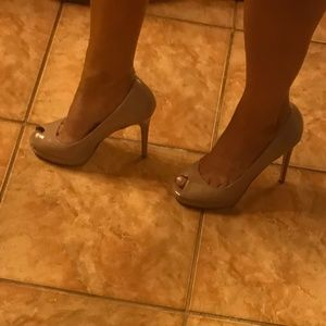 Beige Open Toe Pumps - Chinese Laundry